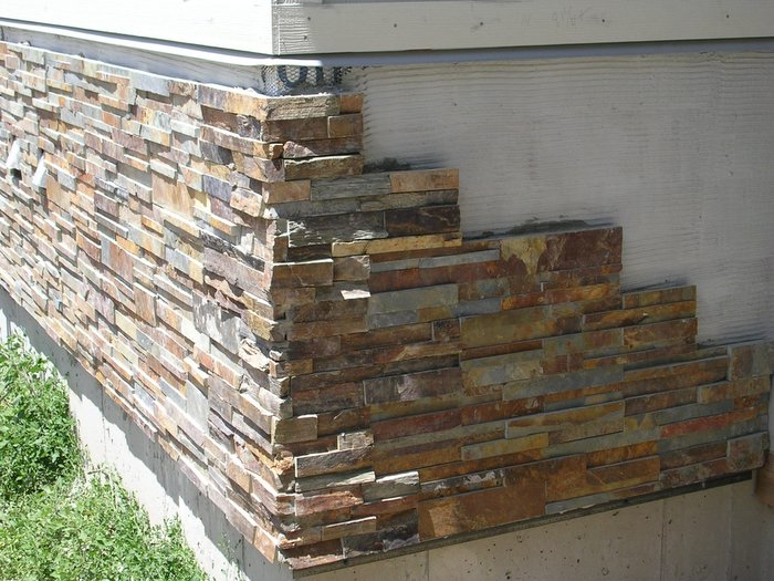 Kennedy concrete inc stone veneer Houses with stone facade