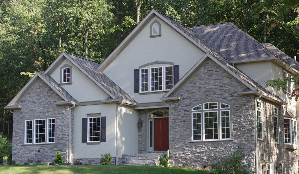Kennedy concrete inc stone veneer - Houses with stone veneer facades ...